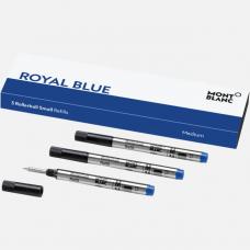 3 recharges pour rollerball petit modèle (M), Royal Blue