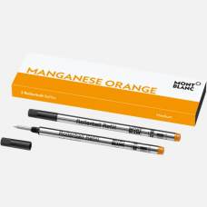 2 recharges pour rollerball (M), Manganese Orange
