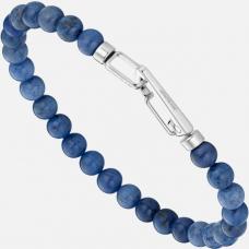 Bracelet Wrap Me en acier et sodalite