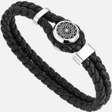Bracelet Hommage à Victor Hugo en cuir et acier
