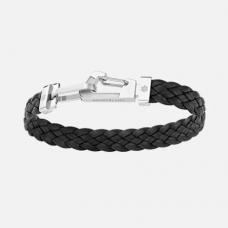 Bracelet Wrap Me en cuir noir