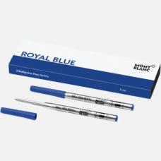 2 recharges pour stylo bille (F) Royal Blue