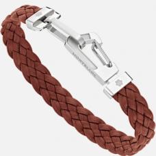 Bracelet Wrap Me en cuir Marron