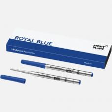 2 recharges pour stylo bille Medium, Royal Blue