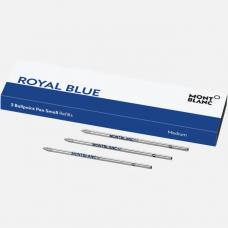 3 Recharges pour stylo bille petit modèle Royal Blue pour Meisterstuck Mozart et Augmented Paper
