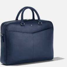 Porte-documents moyen modèle Montblanc Sartorial bleu