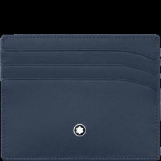 Porte-cartes 6cc Meisterstück bleu