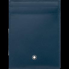 Pochette Meisterstück 4cc avec porte-carte d'identité bleue