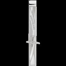 Pince à cravate en acier inoxydable avec gravure d'avion