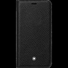 Étui à rabat avec fonction support Meisterstück Soft Grain pour iPhone Apple XS