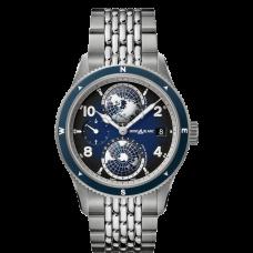 Montblanc 1858 Geosphere Bleue bracelet acier