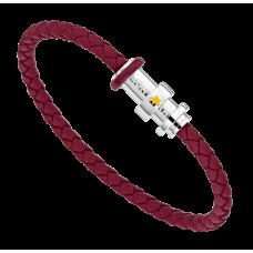 Bracelet Le Petit Prince Y3 en cuir et acier