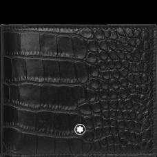 Portefeuille 6CC Meisterstück Sélection impression alligator noir