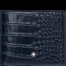 Portefeuille 6cc Meisterstück Selection Impression alligator bleu