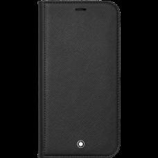 Étui à rabat avec poche 2cc et poche transparente Montblanc Sartorial pour iPhone Apple 12 Pro Max
